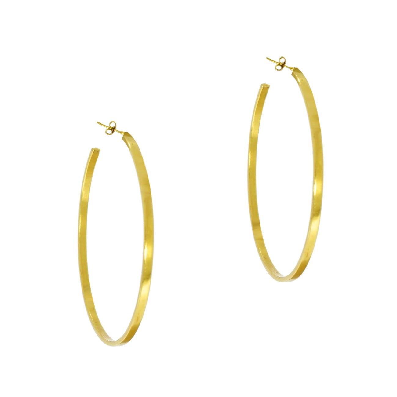 Estate Jewelry Estate Jewelry - Caroline Ellen 20K Yellow Gold Hoops | Manfredi Jewels