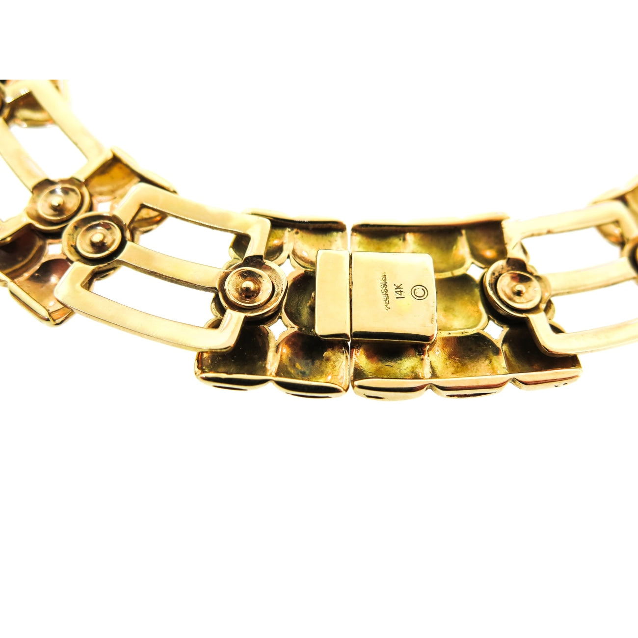 Estate Jewelry Estate Jewelry - Flexible Yellow Gold Necklace with Diamonds | Manfredi Jewels