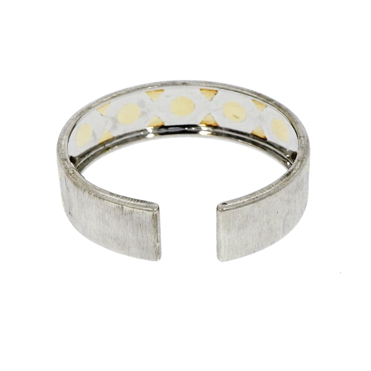Estate Jewelry Estate Jewelry - Gianmaria Buccellati Sterling Silver & Yellow Gold Open Cuff Bracelet | Manfredi Jewels
