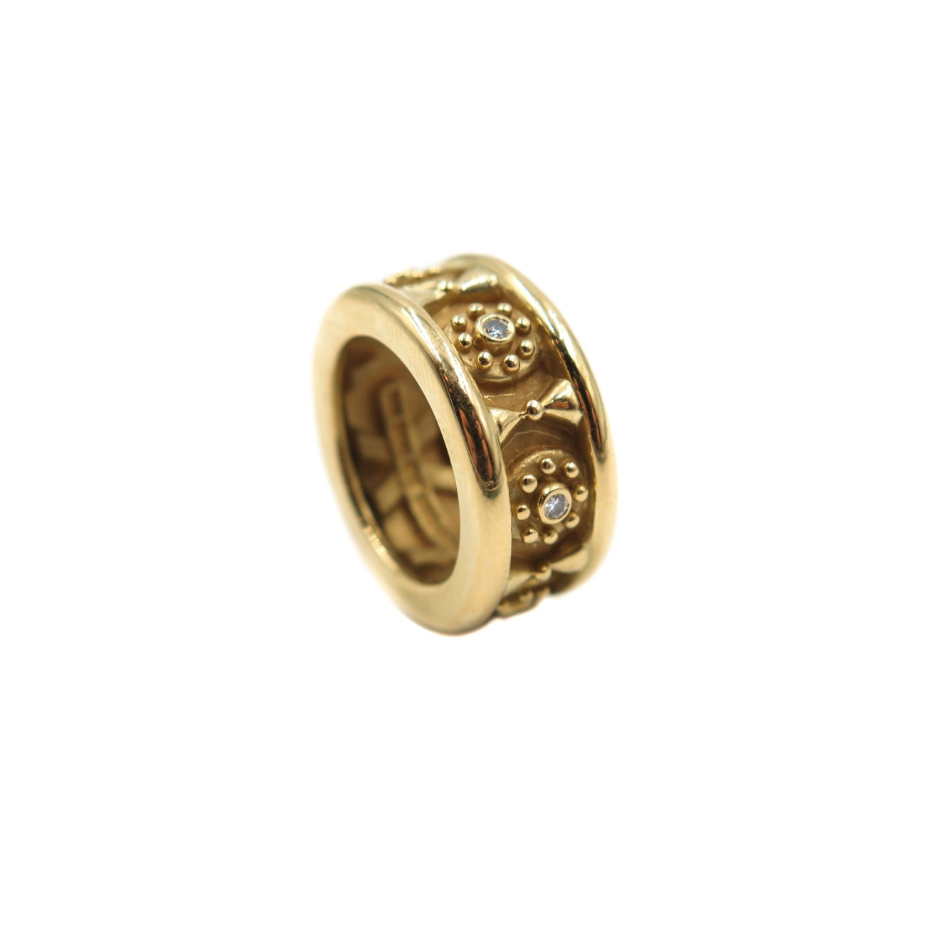 Estate Jewelry Estate Jewelry - Kieselstein Cord Flower Designed Yellow Gold Band by B. Kieselstein Cord | Manfredi Jewels