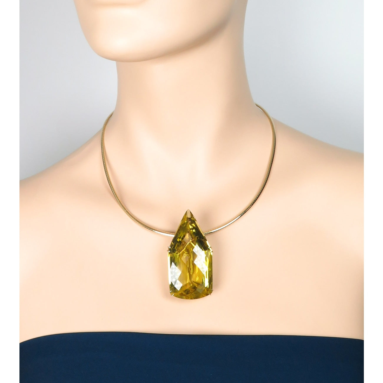 Estate Jewelry Estate Jewelry - Lemon Quartz Yellow Gold Pendant | Manfredi Jewels