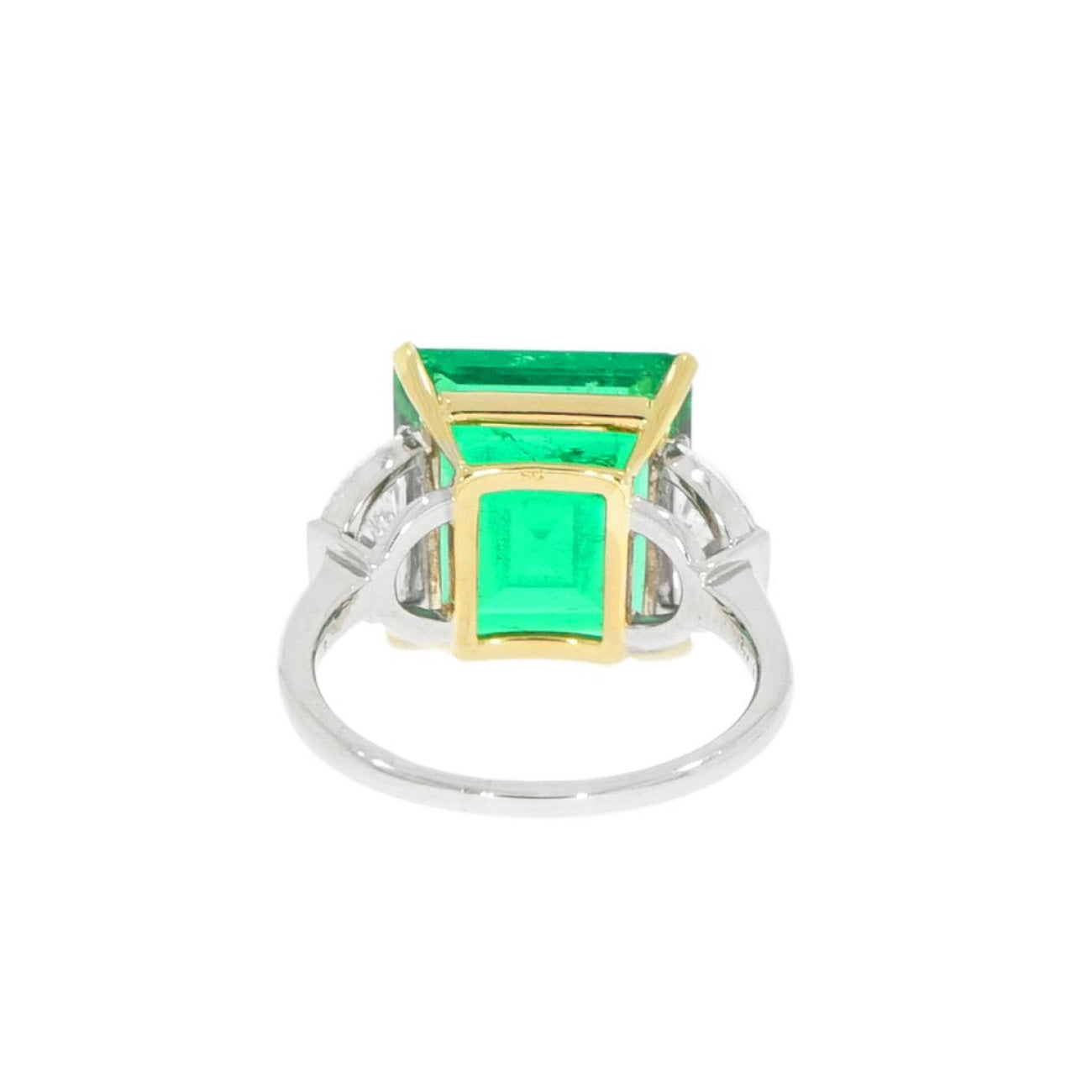 Estate Jewelry Estate Jewelry - Manfredi Jewels Certified 7.43 ct. Colombian Emerald and Diamond Cocktail Ring | Manfredi Jewels