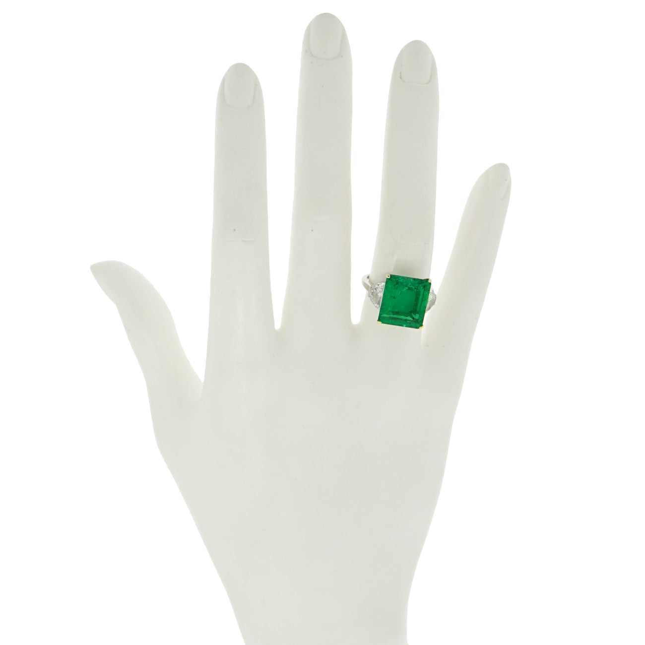Manfredi Jewels Certified 7.43 ct. Colombian Emerald and Diamond Cocktail Ring