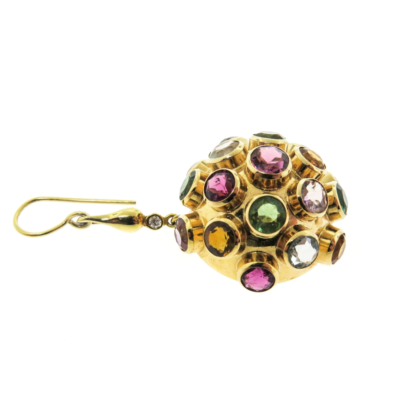 Estate Jewelry Estate Jewelry - Multicolor Gemstones Drop Earrings | Manfredi Jewels