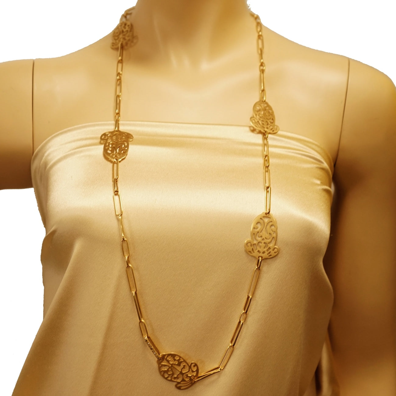 Estate Jewelry Estate Jewelry - Pomellato Acorn Rose Gold Long Necklace | Manfredi Jewels
