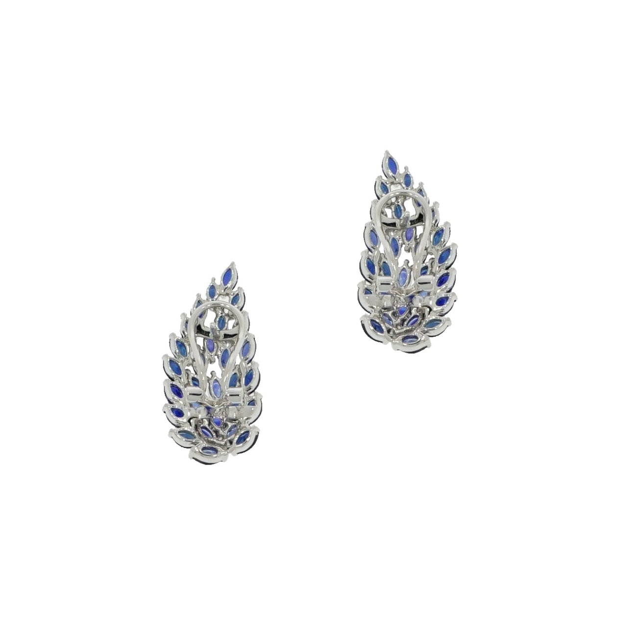 Estate Jewelry Estate Jewelry - Sapphires Climbers White Gold Earrings | Manfredi Jewels
