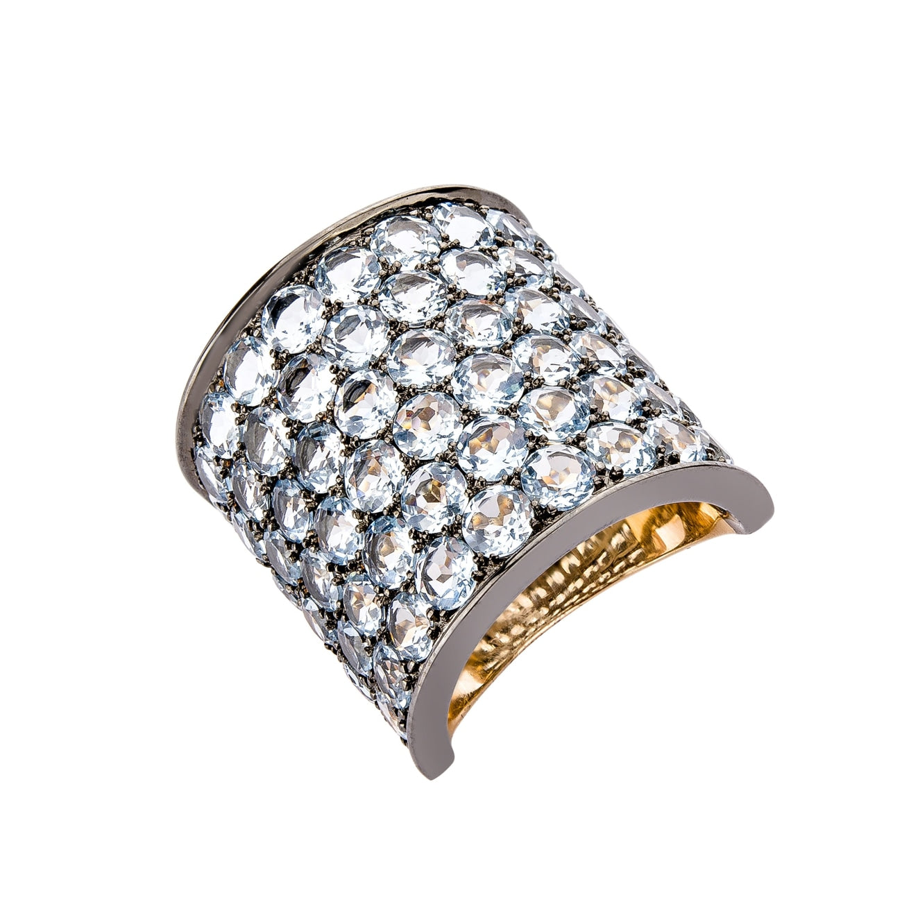 Etho Maria Jewelry - Blue topaz 6 rows ring | Manfredi Jewels