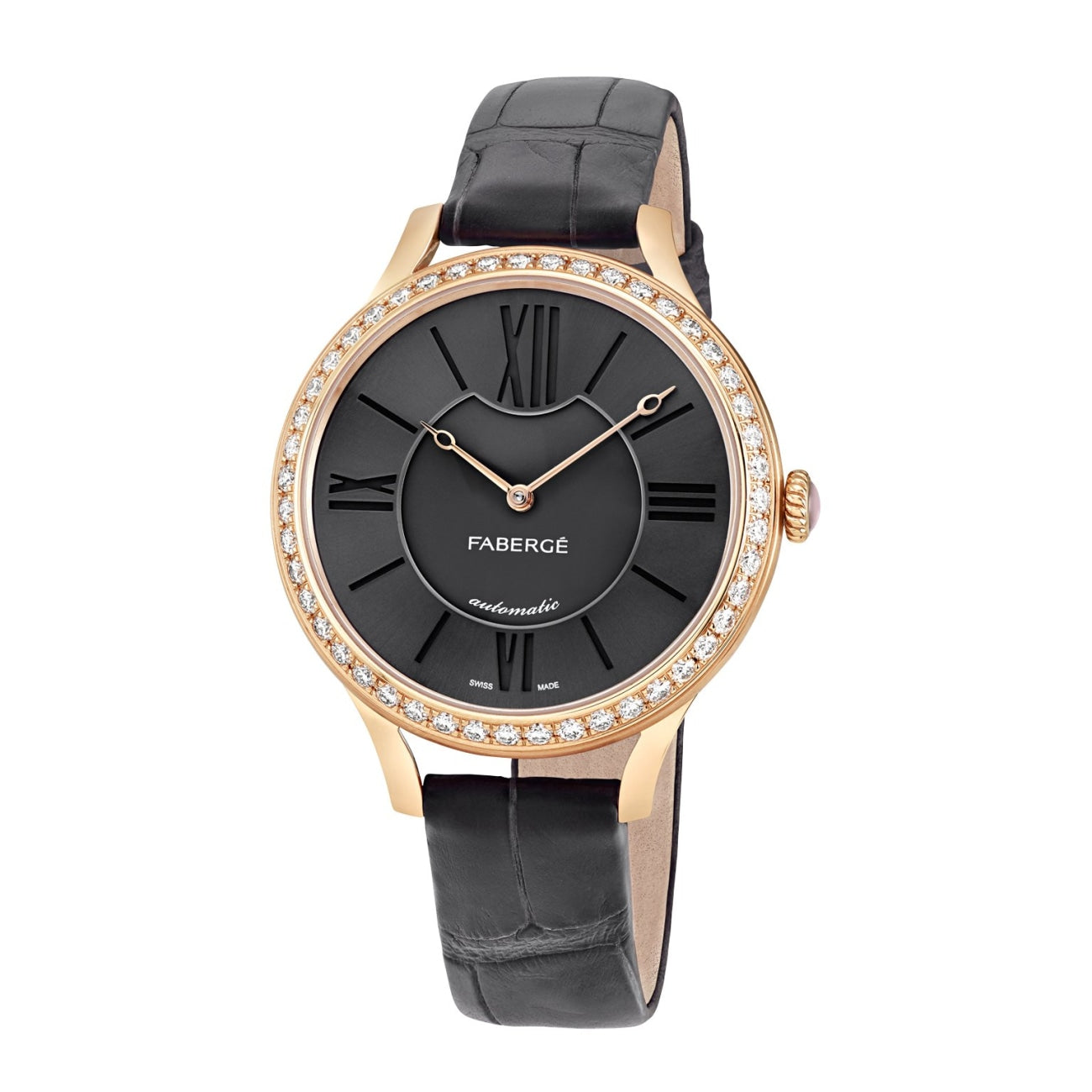 Fabergé Watches - Flirt 36MM 18 Karat Rose Gold - Anthracite Dial | Manfredi Jewels