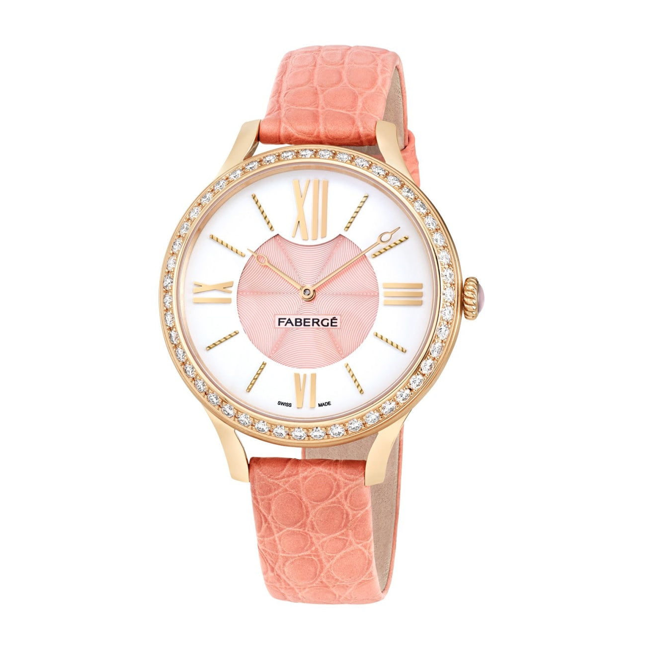 Fabergé Watches - FLIRT 36MM 18 KARAT ROSE GOLD - WHITE AND PINK DIAL | Manfredi Jewels