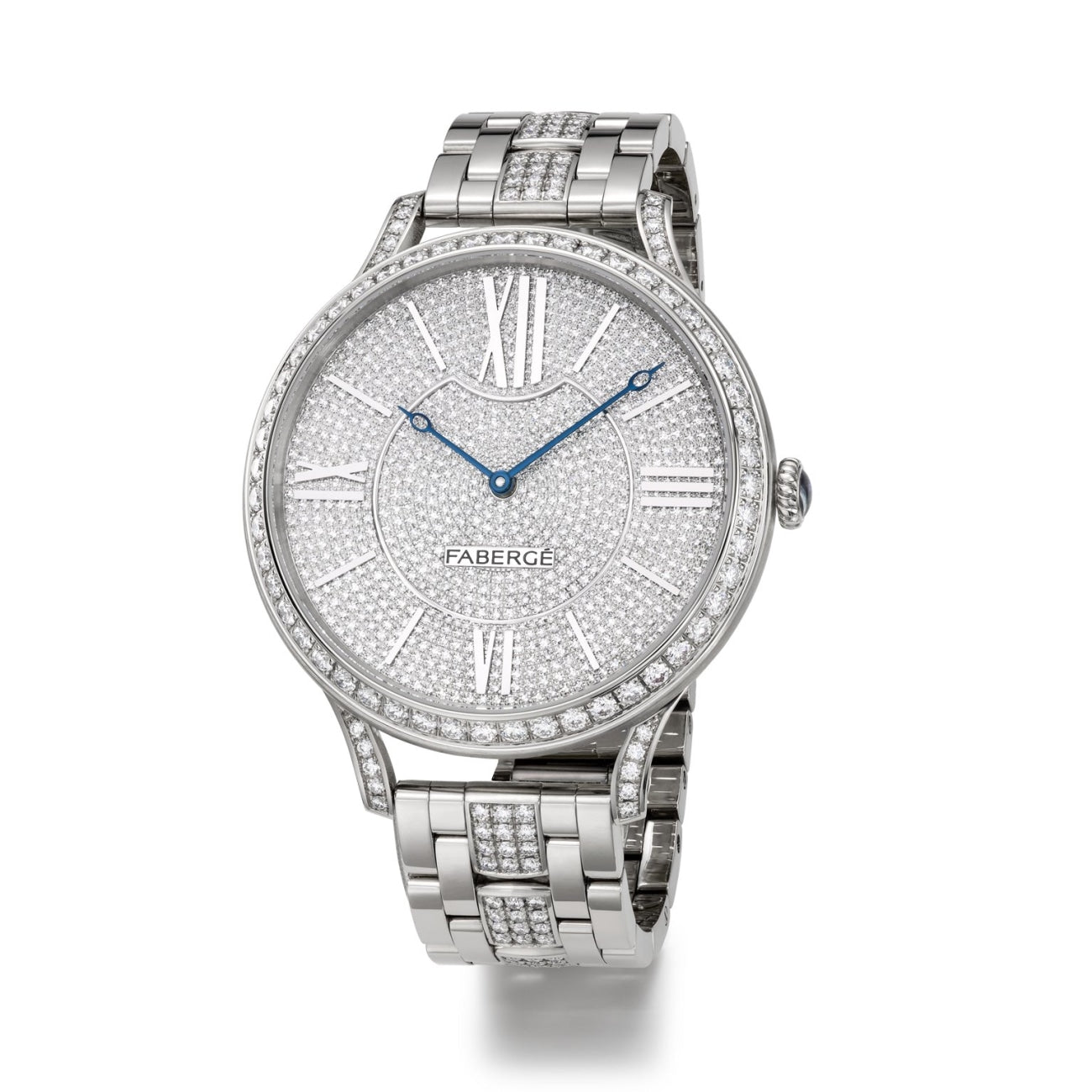 Fabergé Watches - FLIRT 39MM 18 KARAT WHITE GOLD - FULL SET DIAL | Manfredi Jewels
