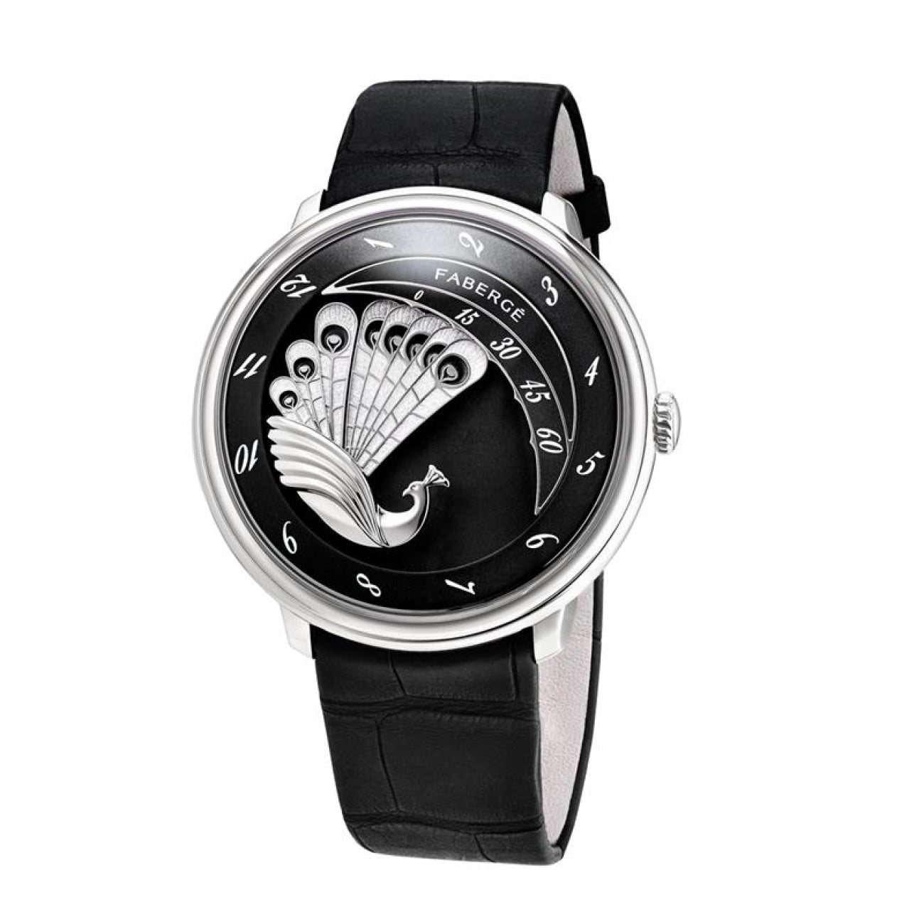 Fabergé Watches - LADY COMPLIQUÉE PEACOCK WHITE GOLD BLACK | Manfredi Jewels
