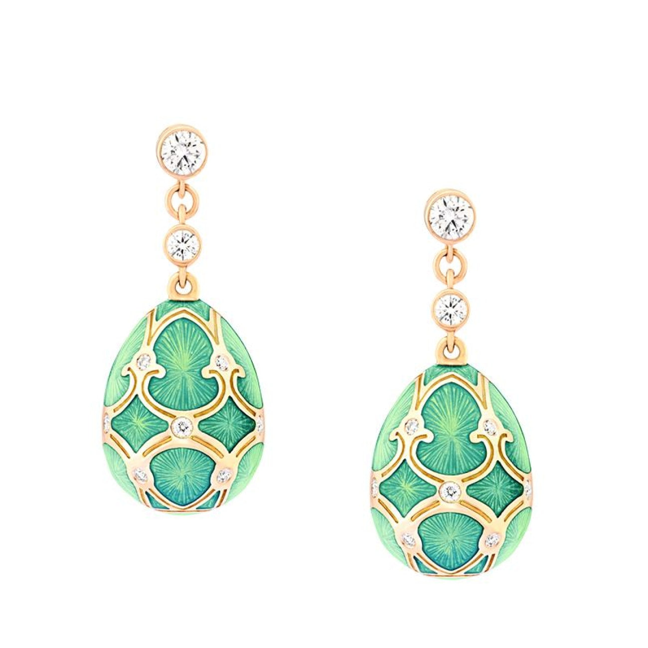 Fabergé Jewelry - Palais Tsarskoye Selo Turquoise Earrings | Manfredi Jewels