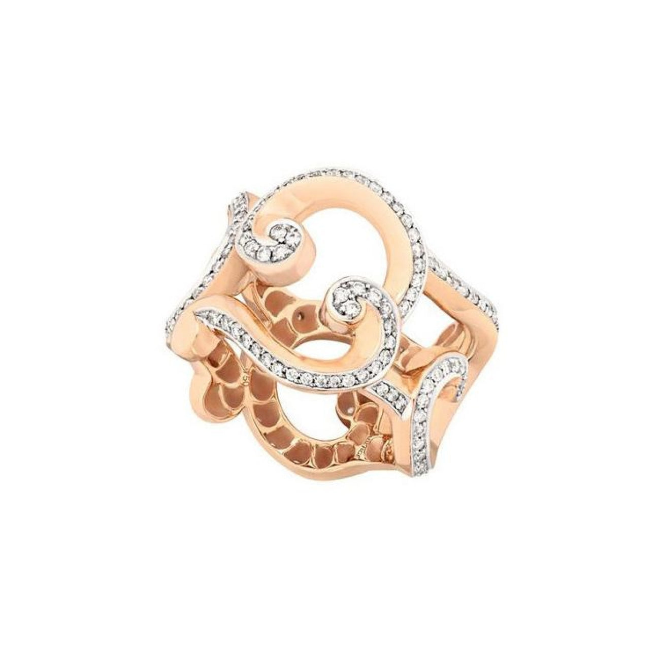 Fabergé Jewelry - Rococo Pavé Diamond Rose Gold Ring | Manfredi Jewels