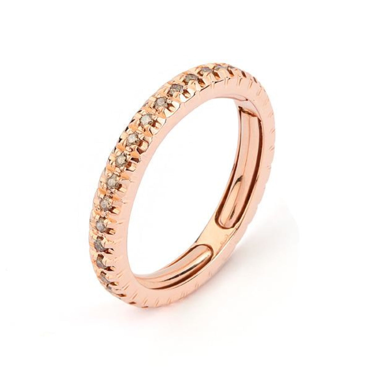 Facet Barcelona Jewelry - Rose Gold Contemporary Full Eternity Ring | Manfredi Jewels