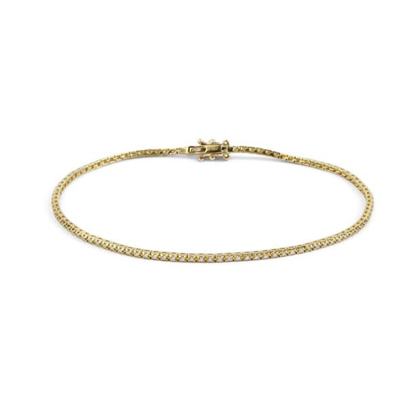 Facet Barcelona Jewelry - Yellow Gold Stackable Tennis Bracelet | Manfredi Jewels