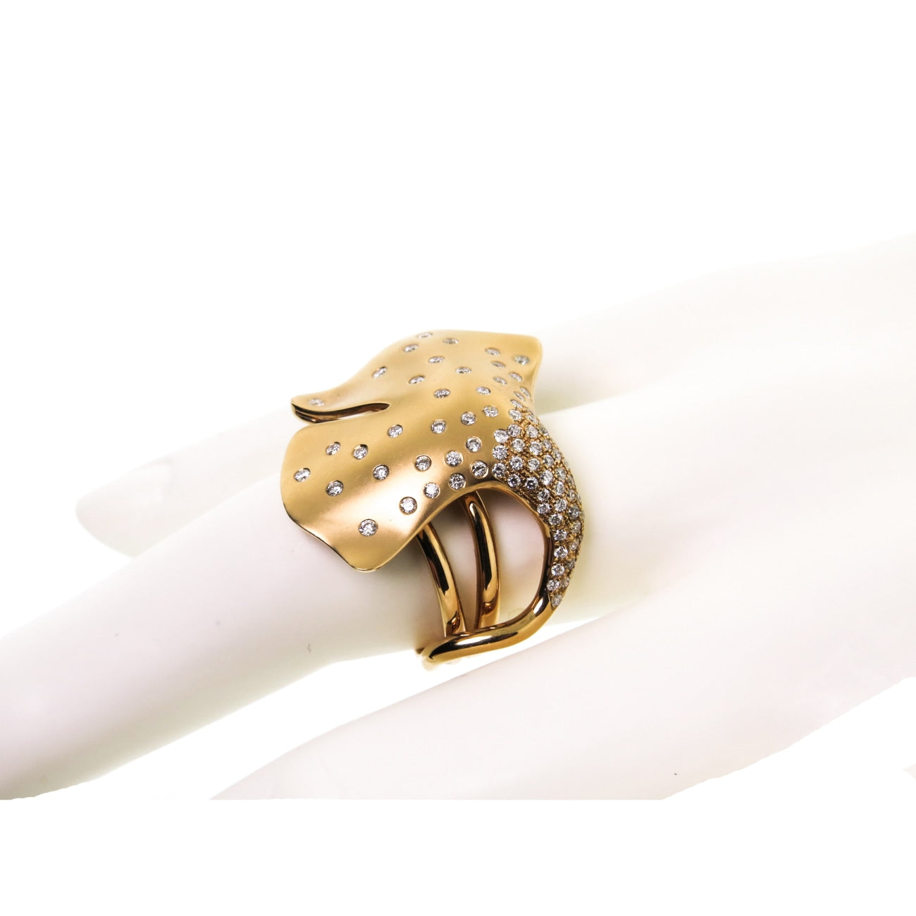 Gatto Jewelry - 18k Rose Gold Ginkgo Ring by Gatto | Manfredi Jewels
