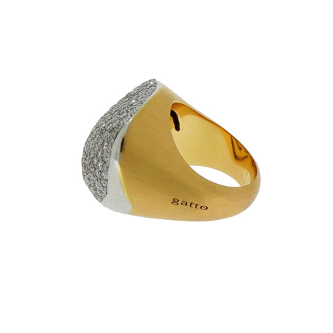 Gatto Estate Jewelry - Rose Gold Diamond Cocktail Ring by Gatto | Manfredi Jewels
