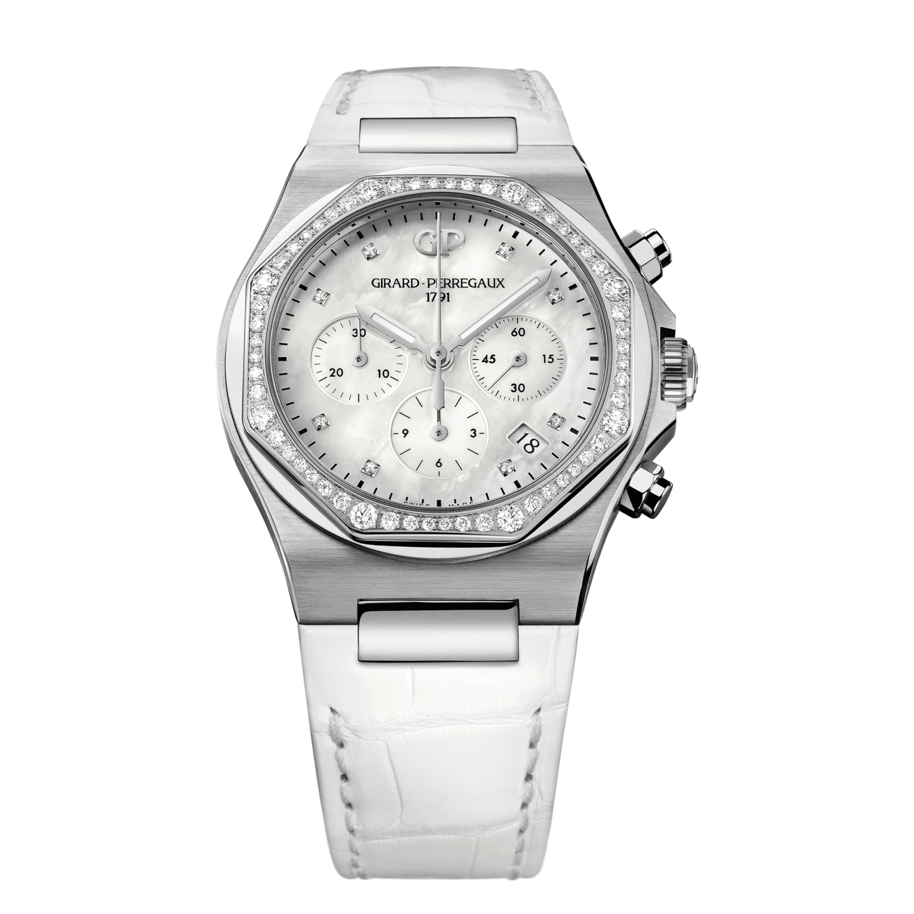 Girard Perregaux Watches - LAUREATO CHRONOGRAPH LADY | Manfredi Jewels