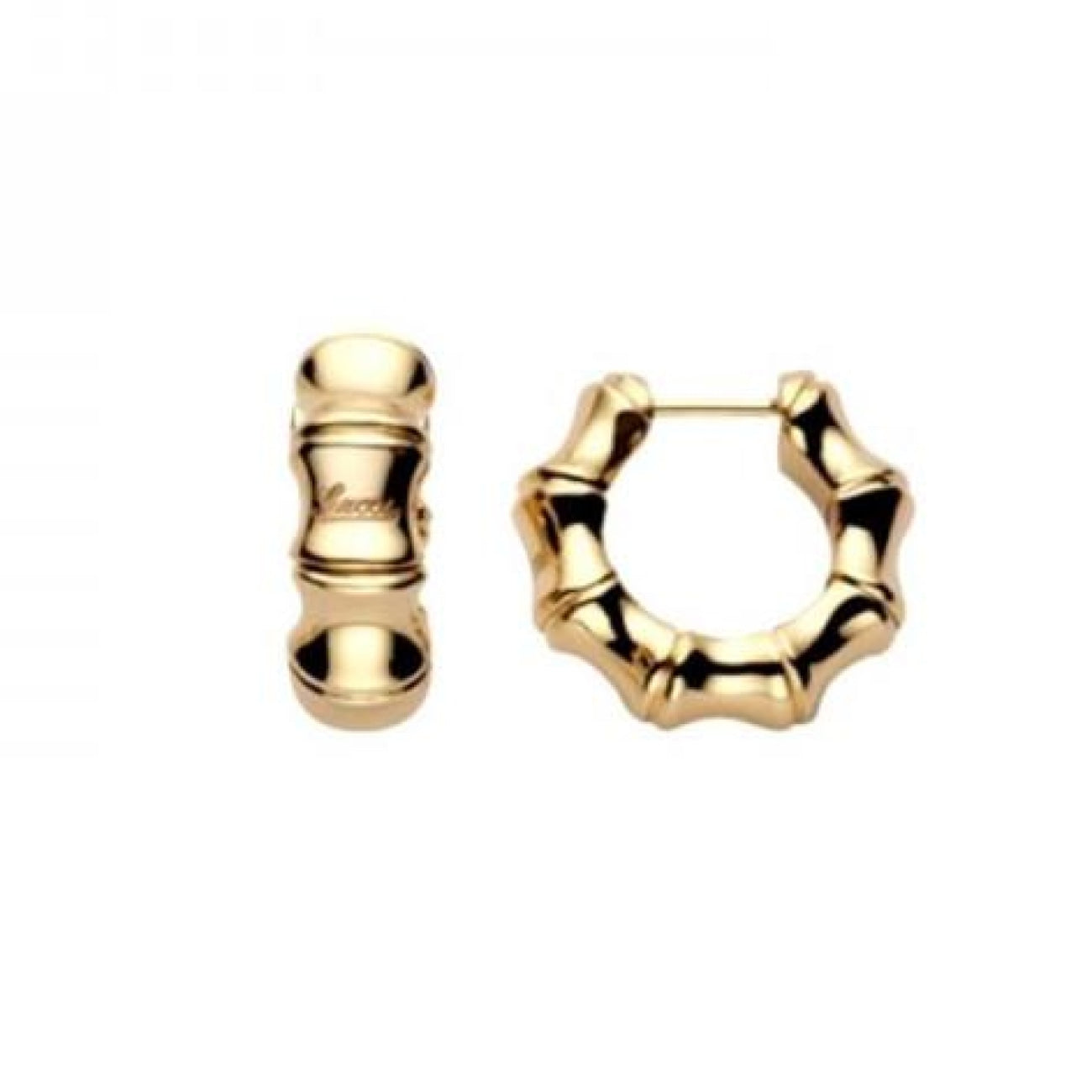 Gucci Jewelry - 18k Yellow Gold Bamboo Earring | Manfredi Jewels