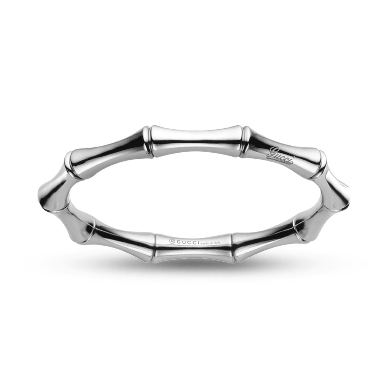 Gucci Jewelry - Bamboo Small Size White Gold Bracelet | Manfredi Jewels