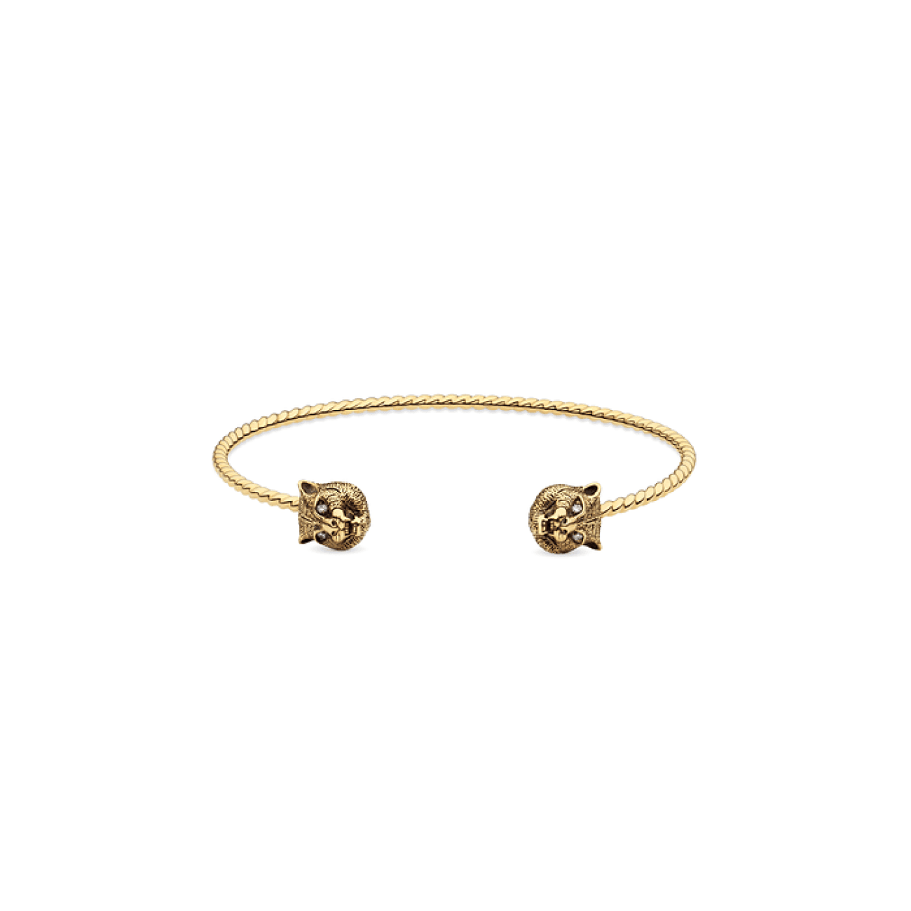 Gucci Jewelry - Black aged lion bangle | Manfredi Jewels