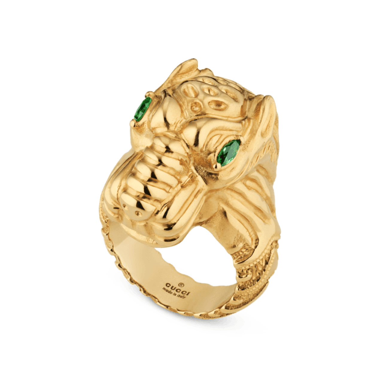 Gucci Jewelry - Dionysus 24mm tsavorite ring YBC502475001013 YG JEWL | Manfredi Jewels