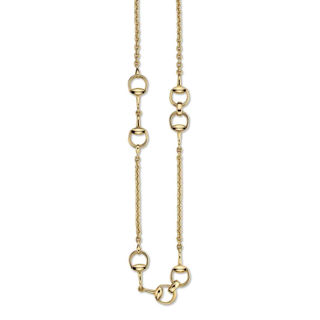 Gucci Jewelry - Horsebit long necklace | Manfredi Jewels
