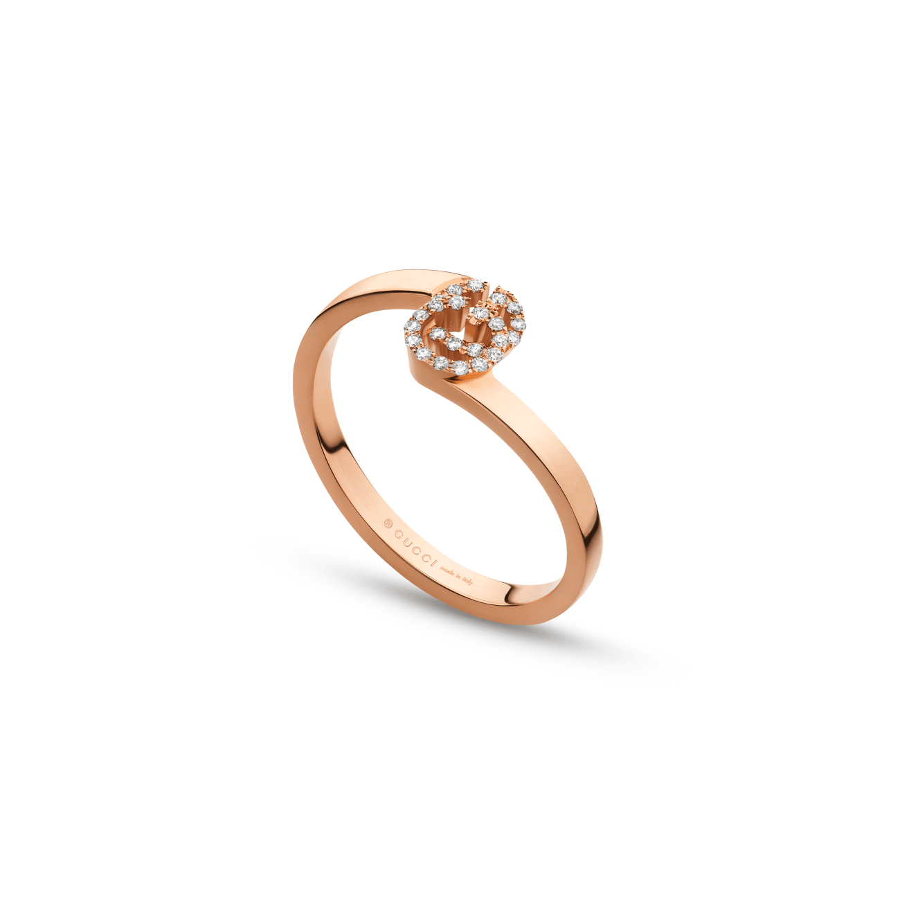 Gucci Jewelry - Running GG Diam Stack Rose Gold Ring | Manfredi Jewels