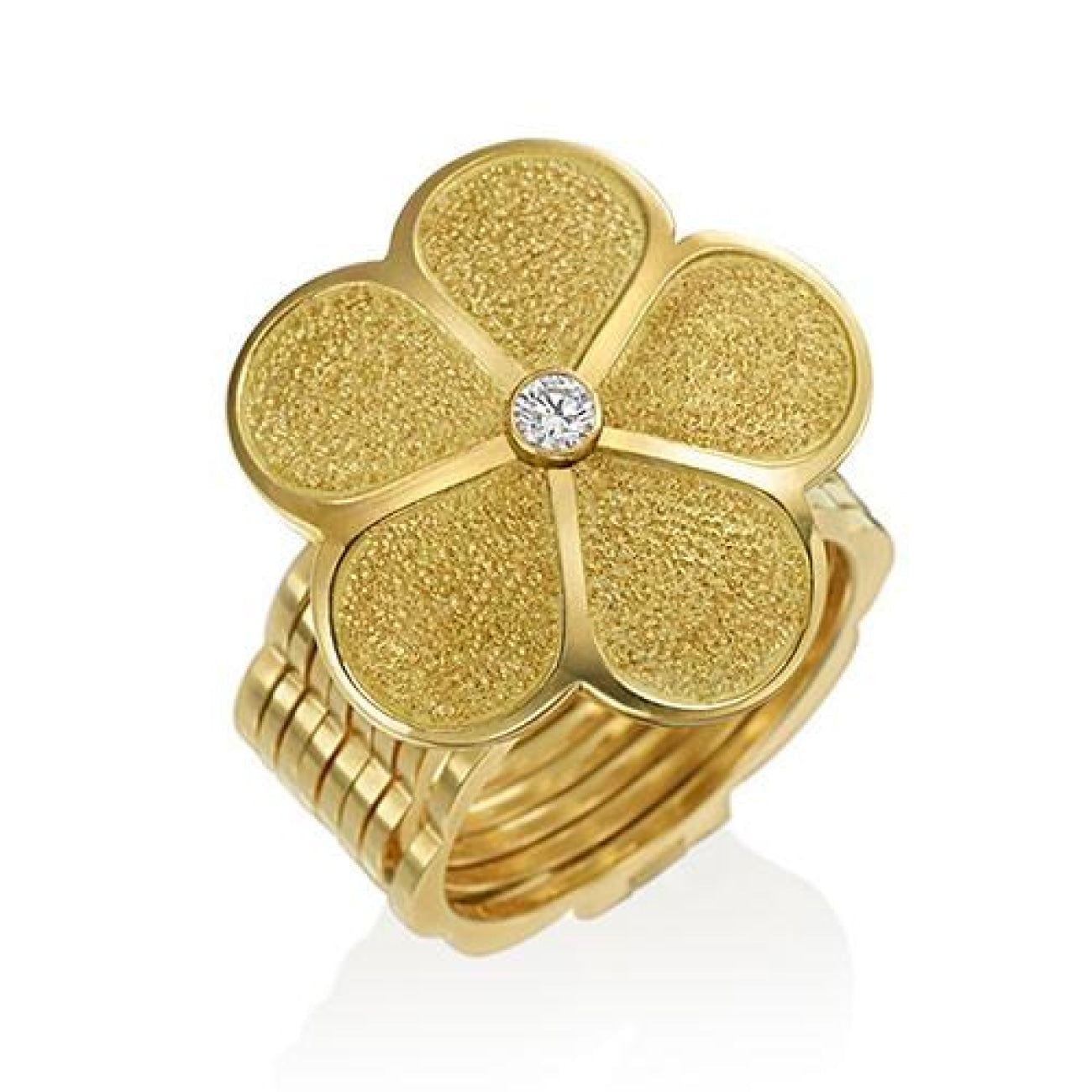 Gumuchian Jewelry - GUMUCHIAN G. BOUTIQUE 18K YELLOW GOLD DIAMOND DAISY TRANSFORMING RING TO BRACELET | Manfredi Jewels