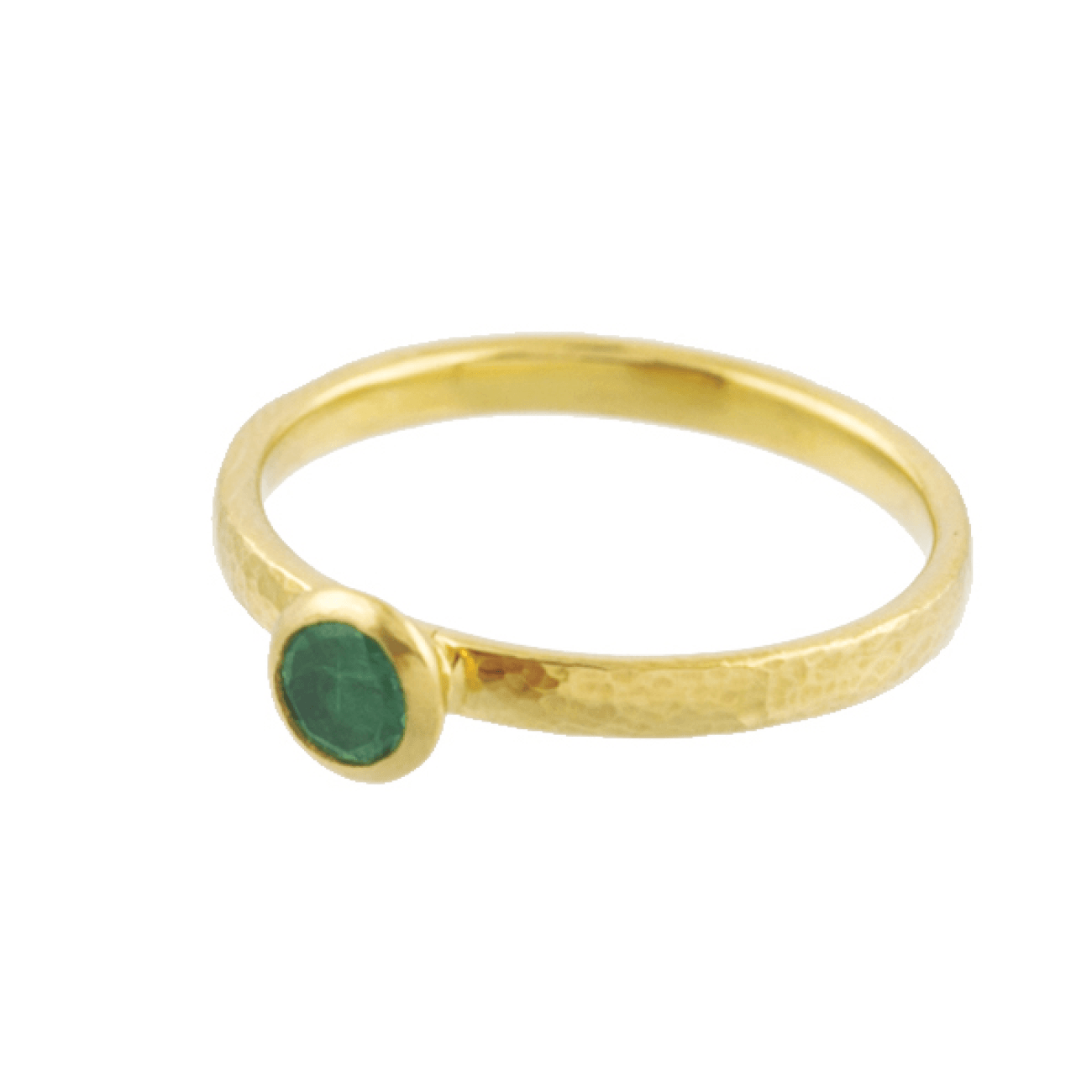 Gurhan Jewelry - Stackable ring with round emerald | Manfredi Jewels