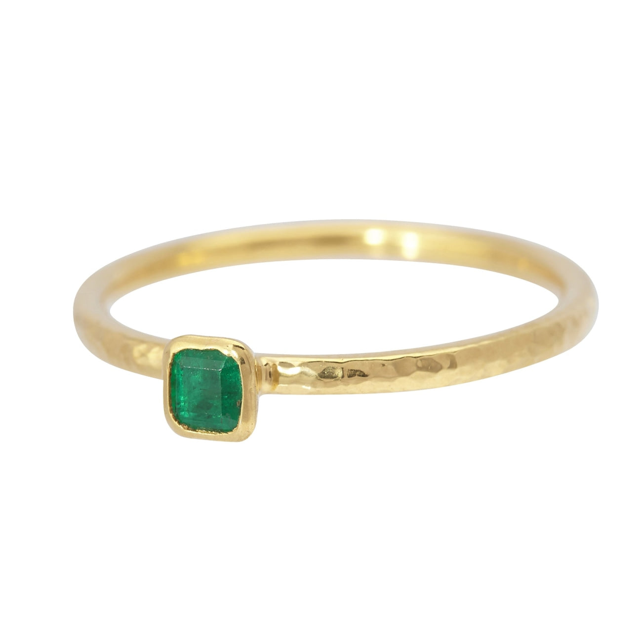 Gurhan Jewelry - Stackable ring with square emerald | Manfredi Jewels