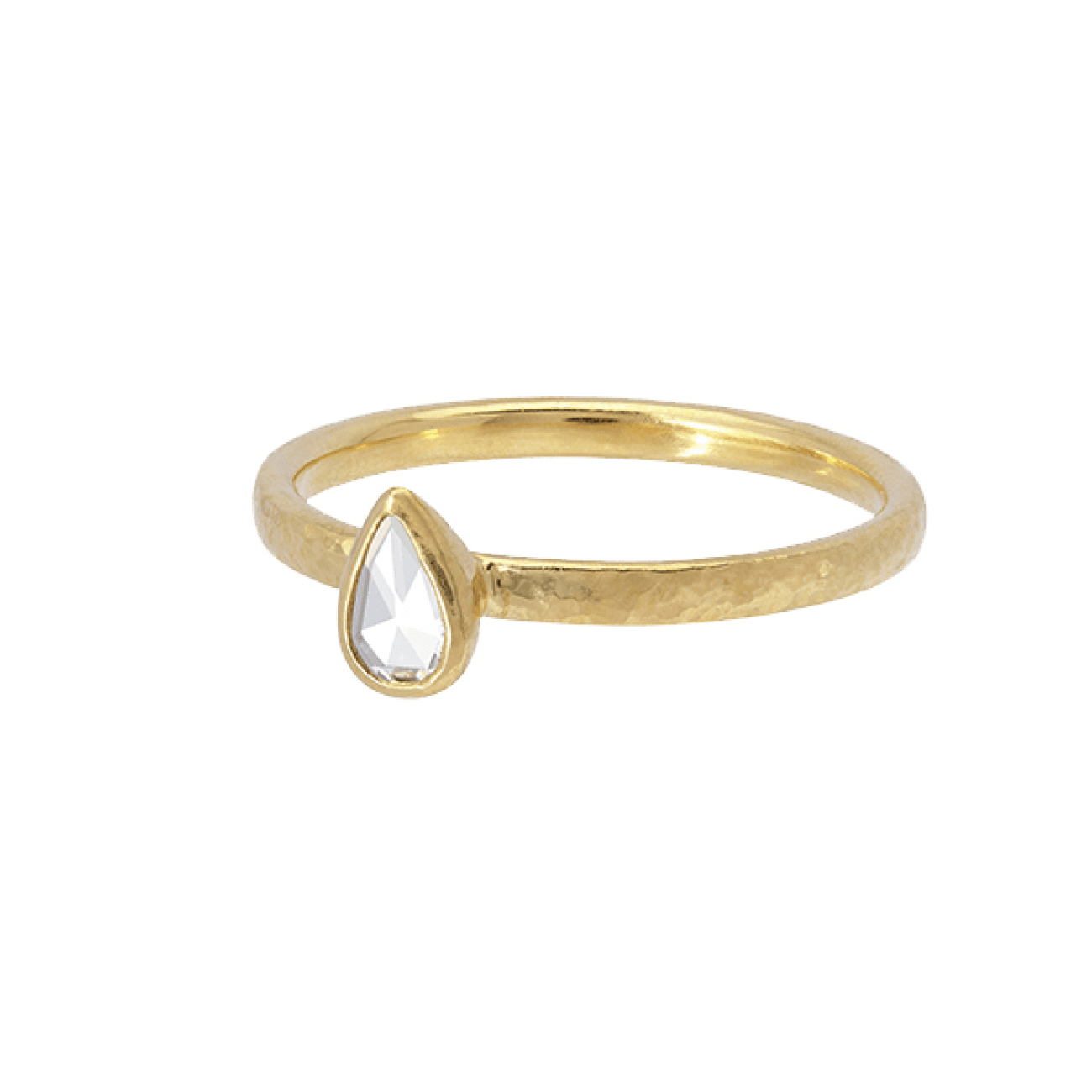 Gurhan Jewelry - Stacking ring with drop rose cut diamond | Manfredi Jewels
