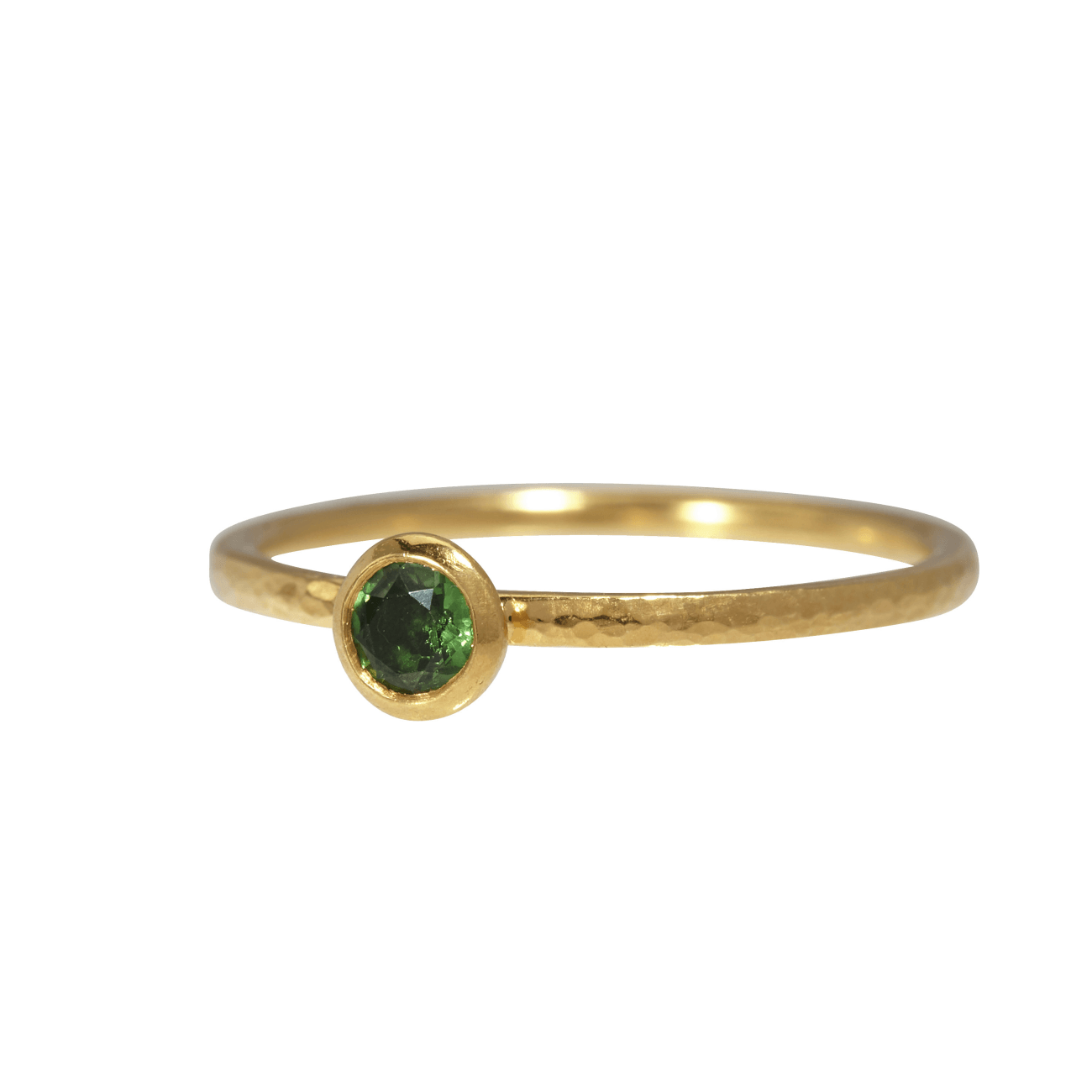 Gurhan Jewelry - Stacking round tsarvorite ring | Manfredi Jewels