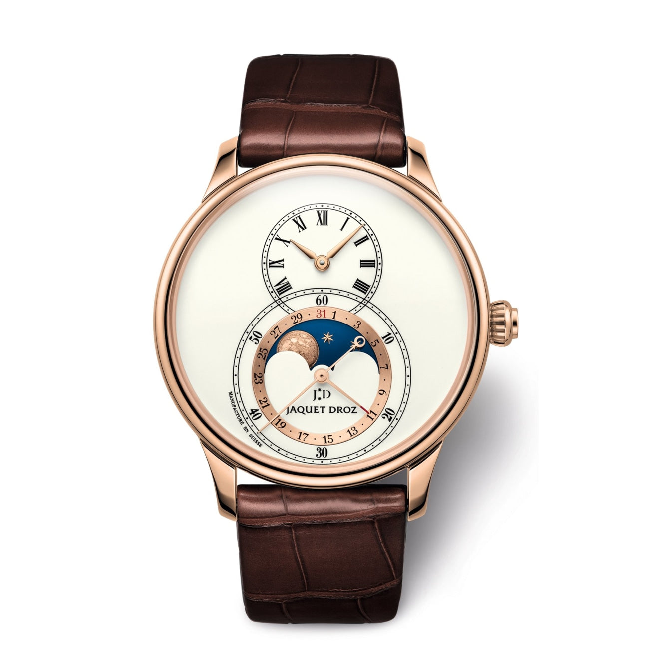 Jaquet Droz Watches - GRANDE SECONDE MOON IVORY ENAMEL | Manfredi Jewels