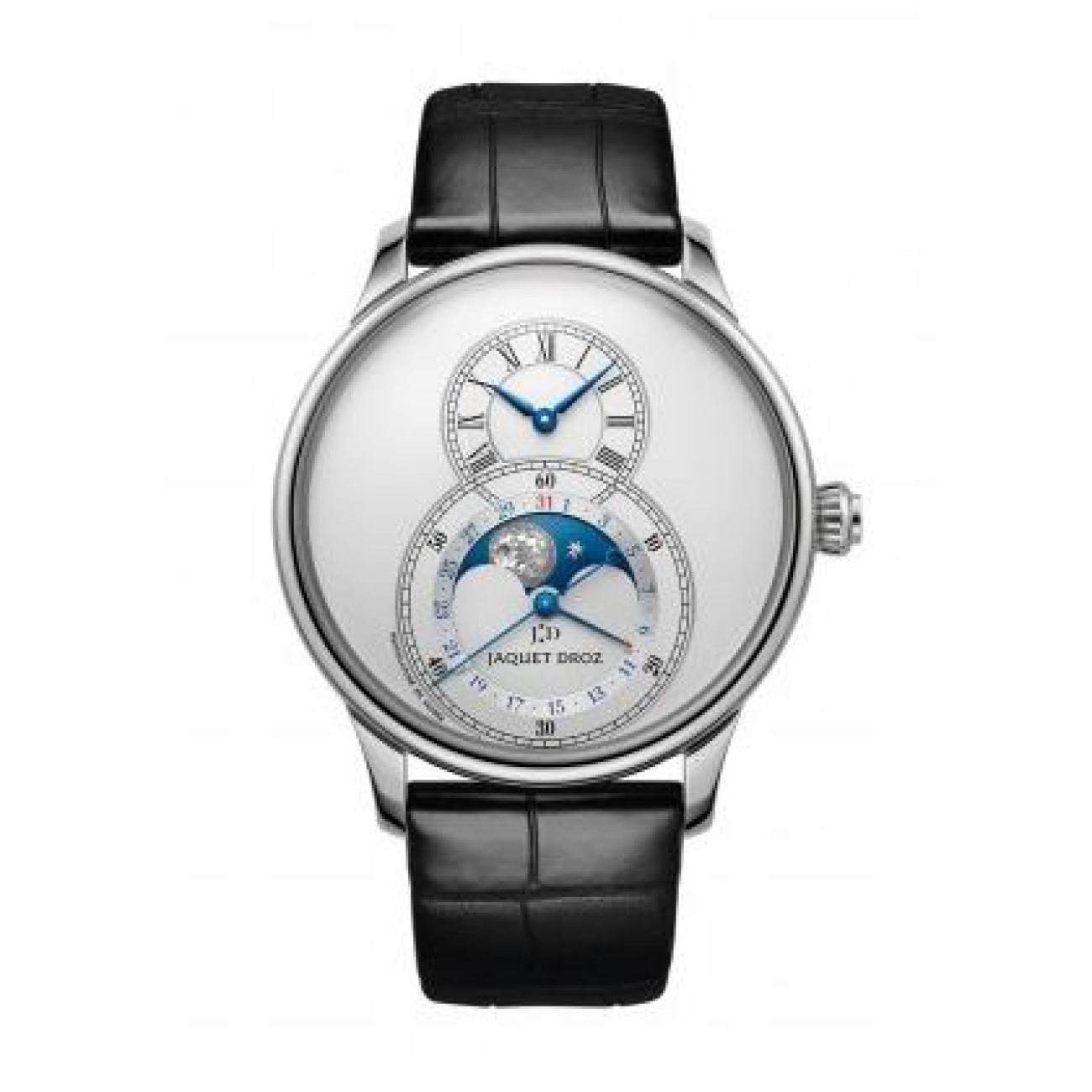 Jaquet Droz Watches - GRANDE SECONDE MOON SILVER | Manfredi Jewels