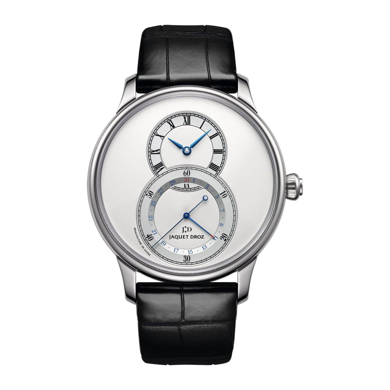 Jaquet Droz Watches - GRANDE SECONDE QUANTIEME SILVER | Manfredi Jewels