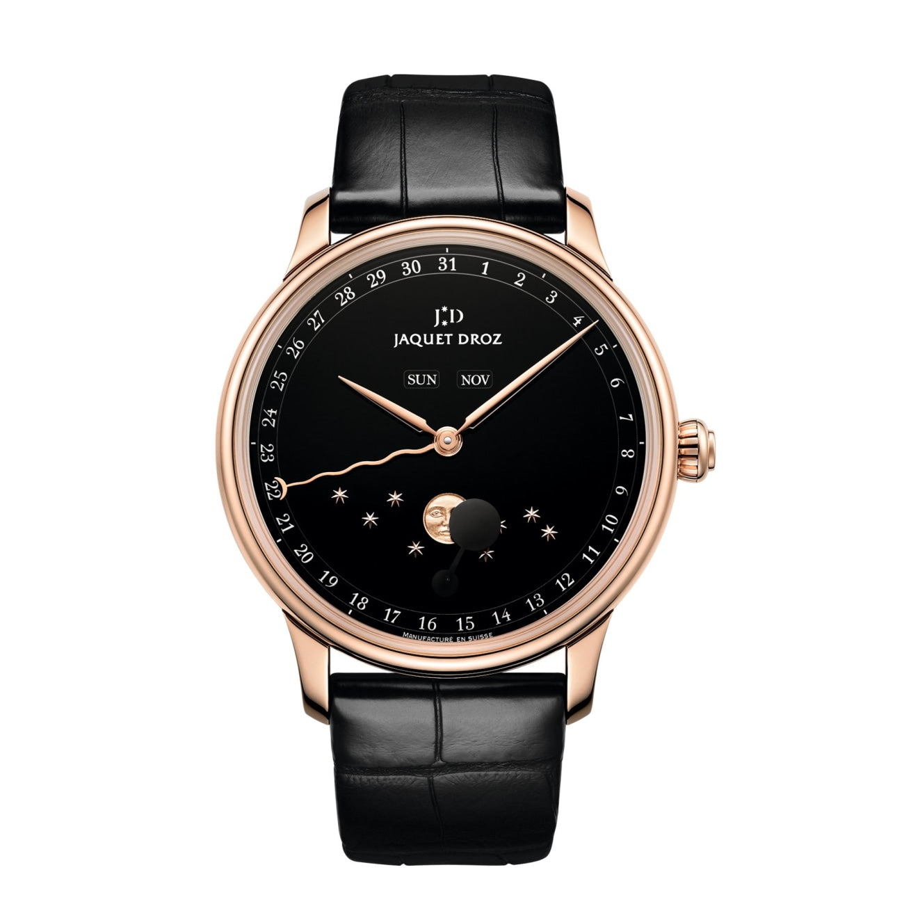 Jaquet Droz Watches - THE ECLIPSE BLACK ENAMEL | Manfredi Jewels