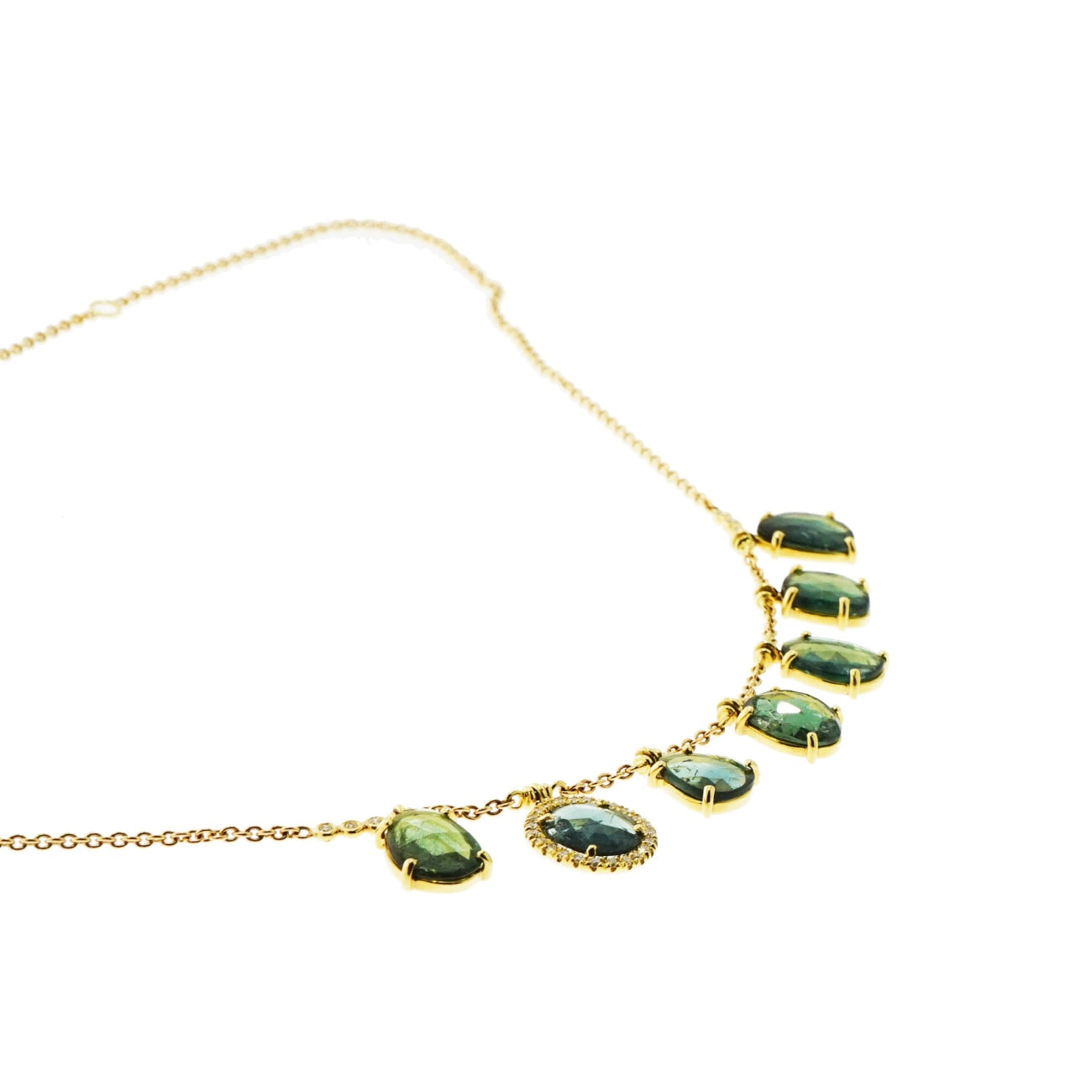 Lauren K Jewelry - Fringe Tourmaline Yellow Gold Necklace | Manfredi Jewels