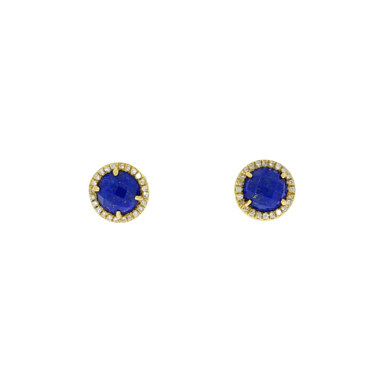 Lauren K Jewelry - Lapis Lazuli & Diamond Stud Earrings | Manfredi Jewels