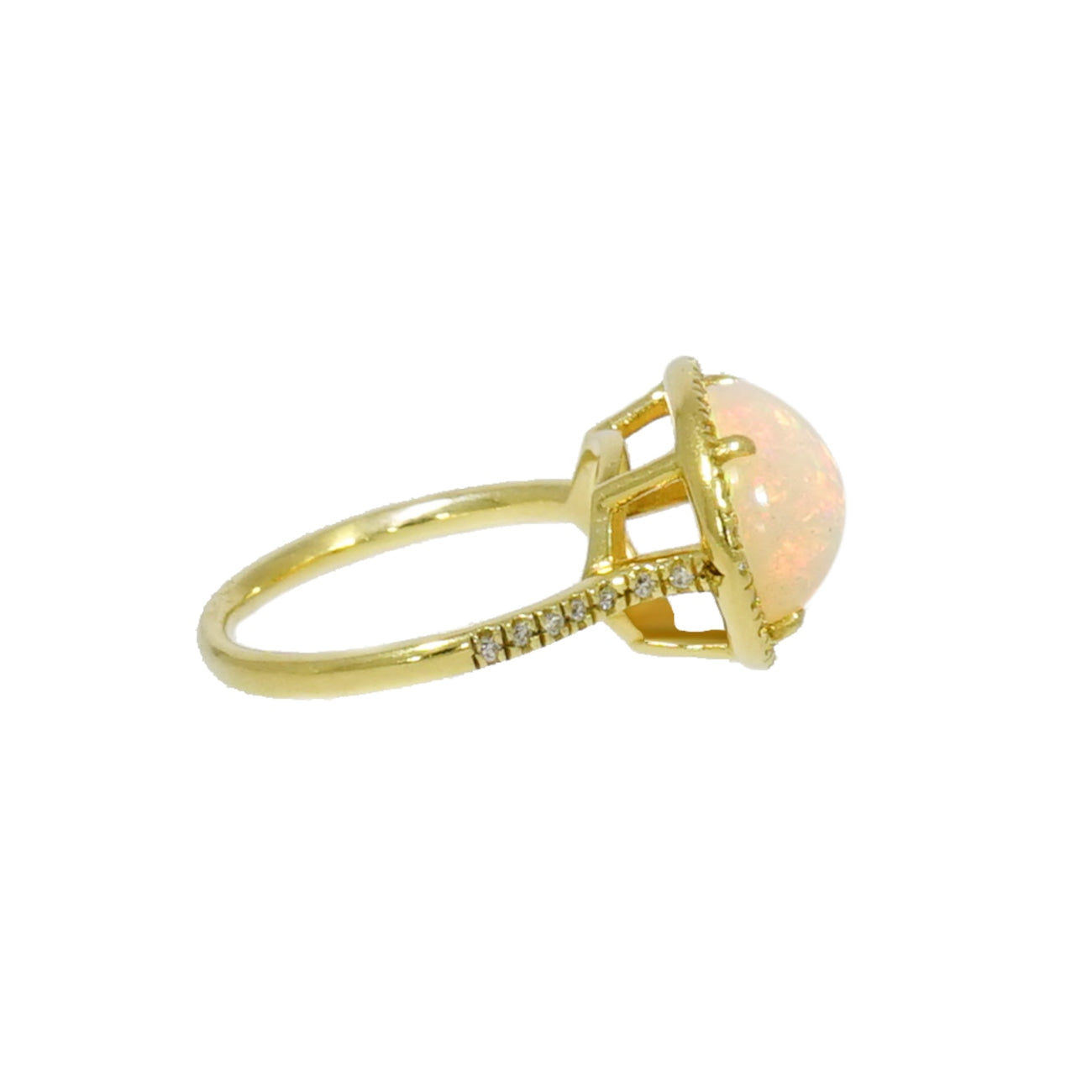 Lauren K Jewelry - Opal & Diamond Yellow Gold Ring | Manfredi Jewels