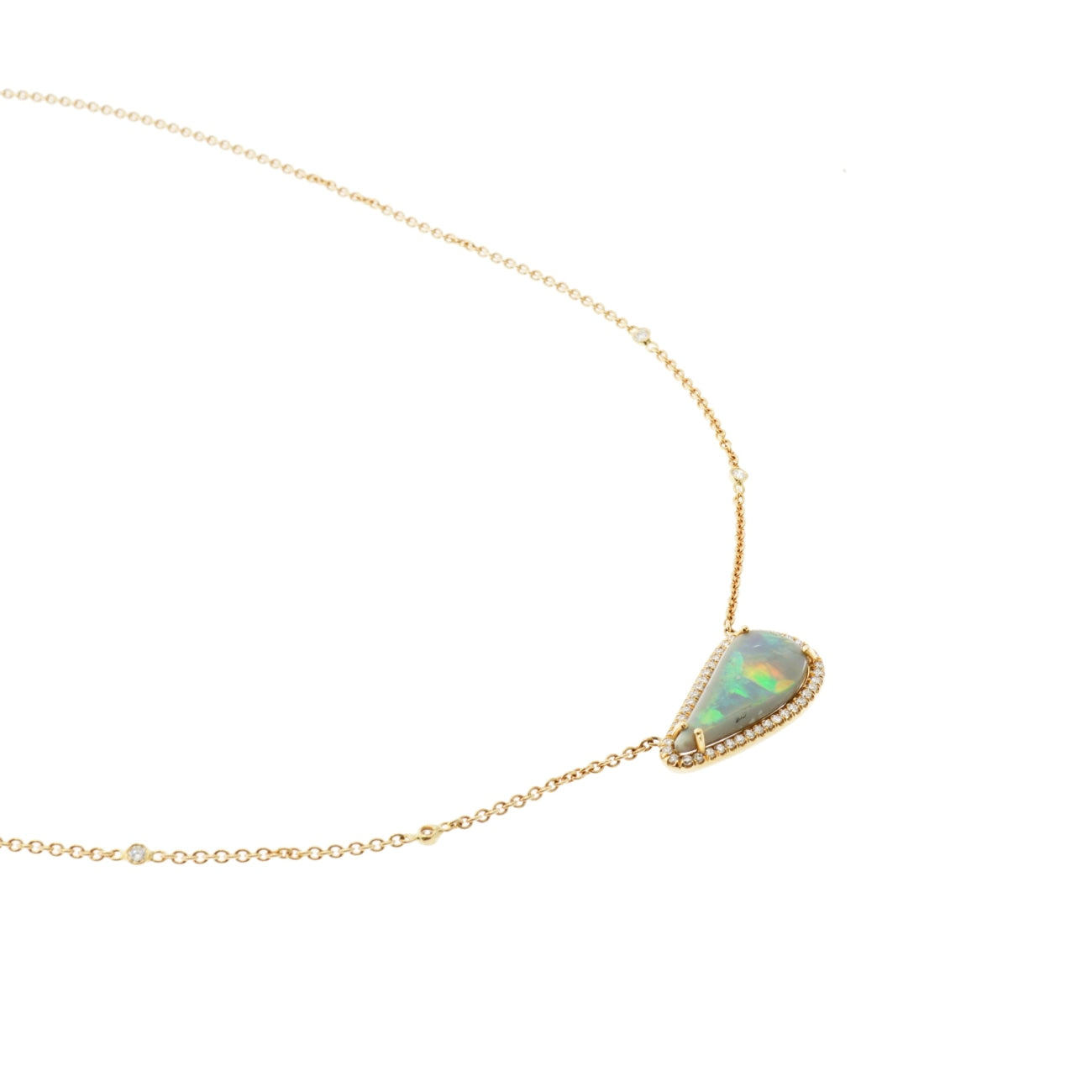 Lauren K Jewelry - Paisley Opal & Diamond Rose Gold Pendant | Manfredi Jewels