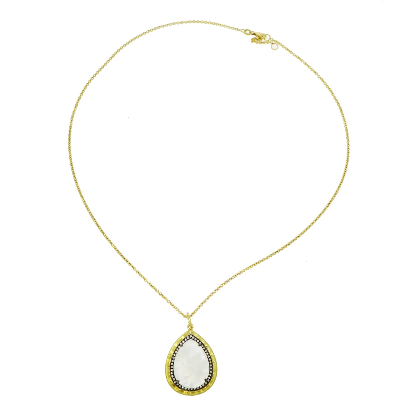 Lauren K Jewelry - Pear shaped Moonstone & Diamond Pendant | Manfredi Jewels
