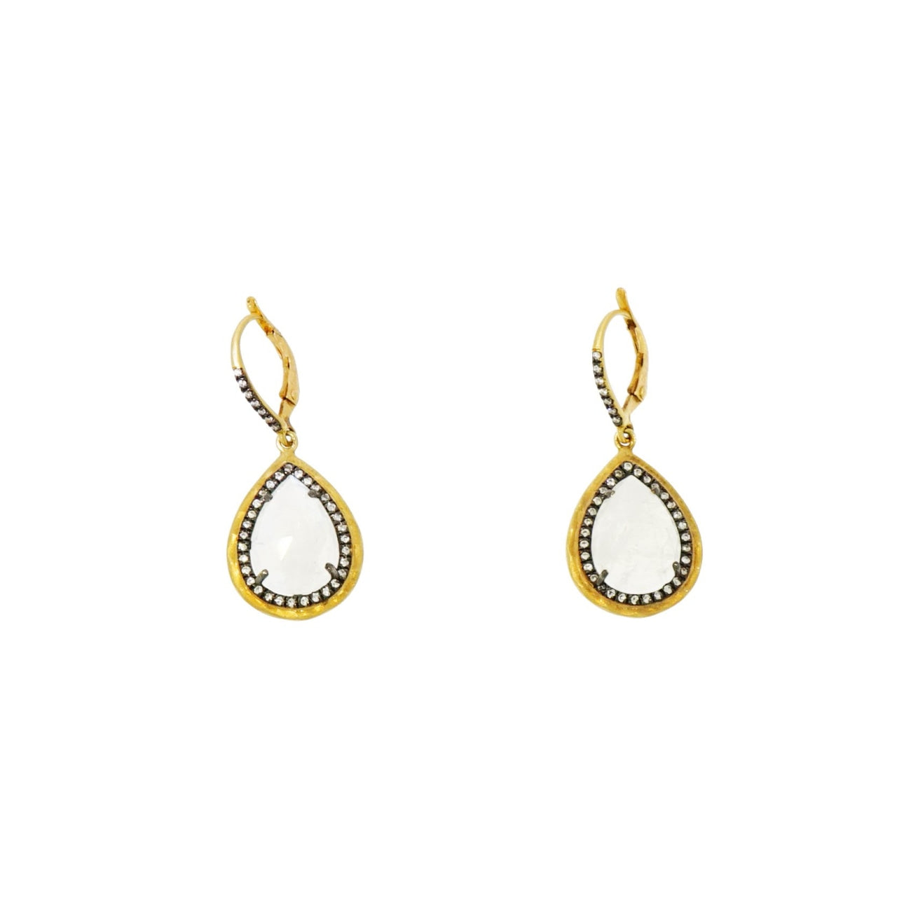 Lauren K Jewelry - Pear shaped Moonstone Drop Earrings | Manfredi Jewels