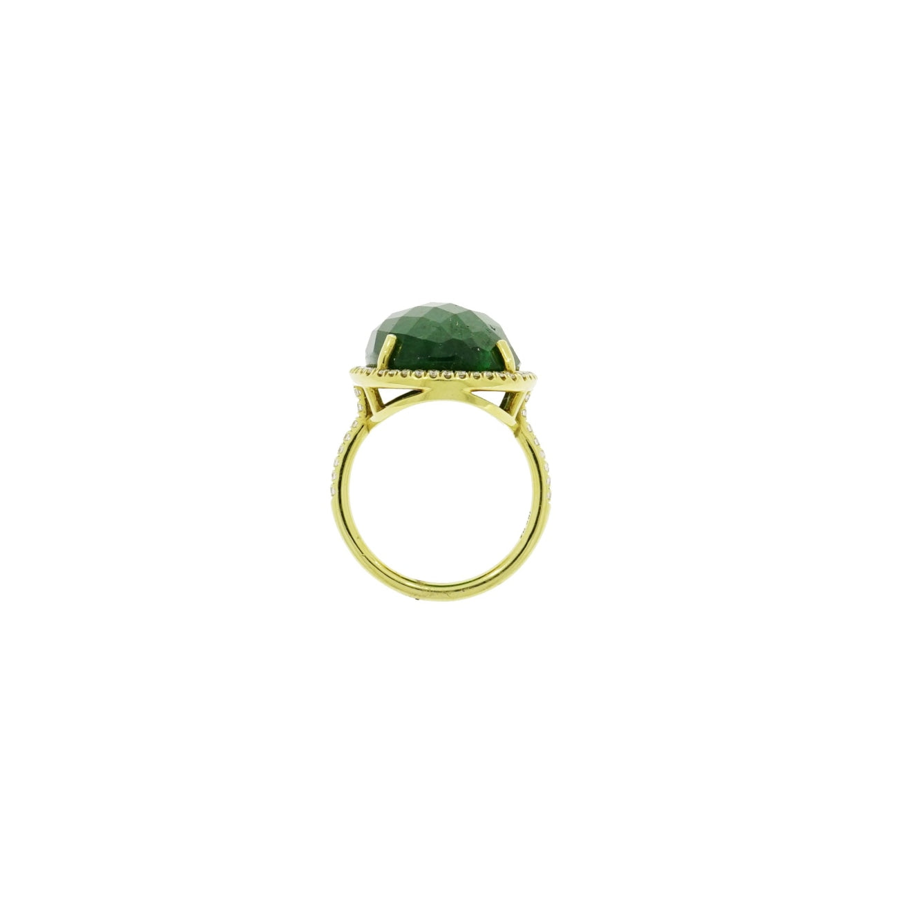 Lauren K Jewelry - Tsavorite & Diamond Yellow Gold Ring | Manfredi Jewels