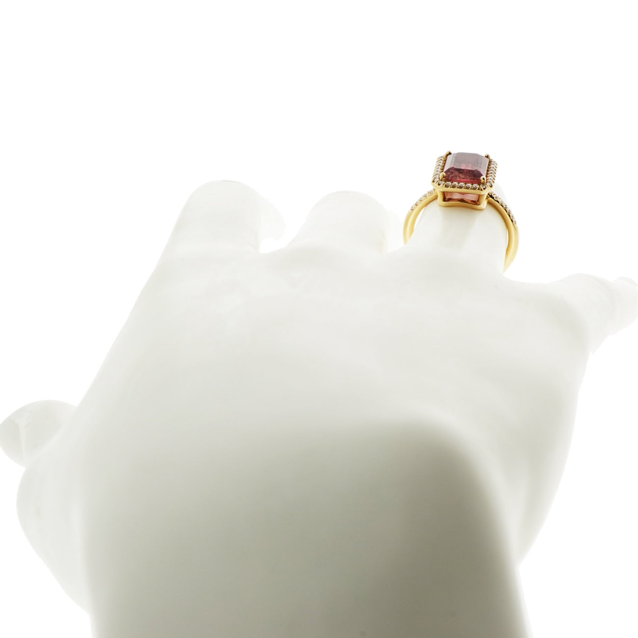 Lauren K Jewelry - Watermelon Tourmaline & Diamond Rose Gold Ring | Manfredi Jewels