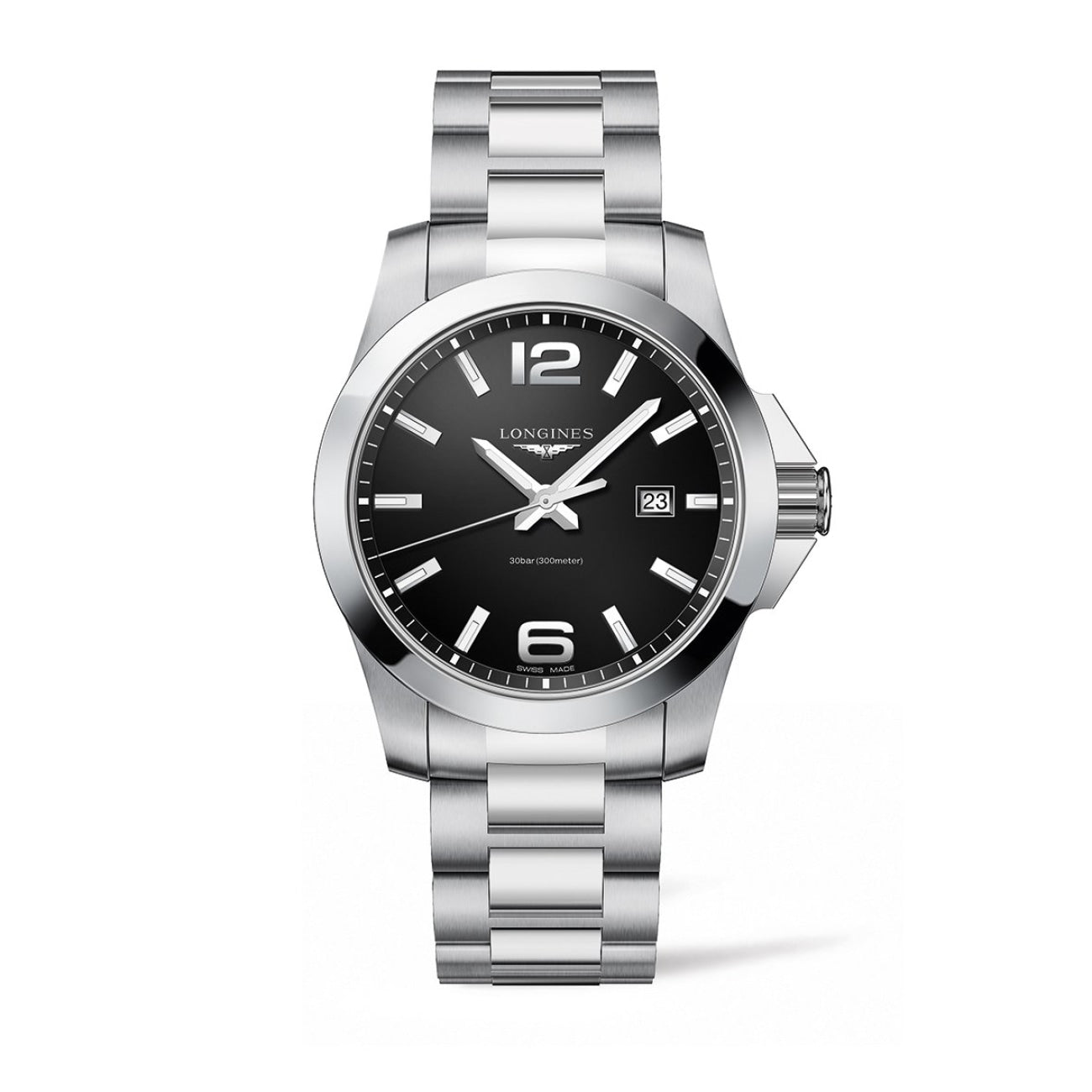 Longines Watches - Conquest 43Mm Stainless Steel | Manfredi Jewels