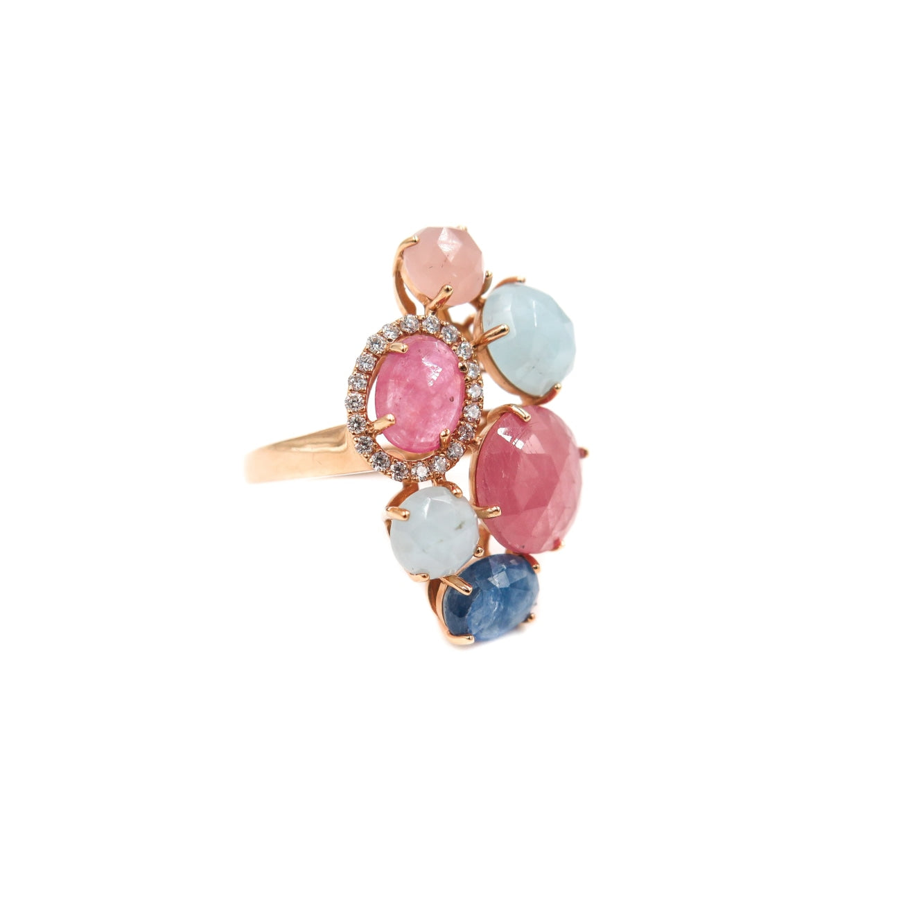 Manfredi Jewels Jewelry - 18k Rose Gold Multi-color Ring | Manfredi Jewels