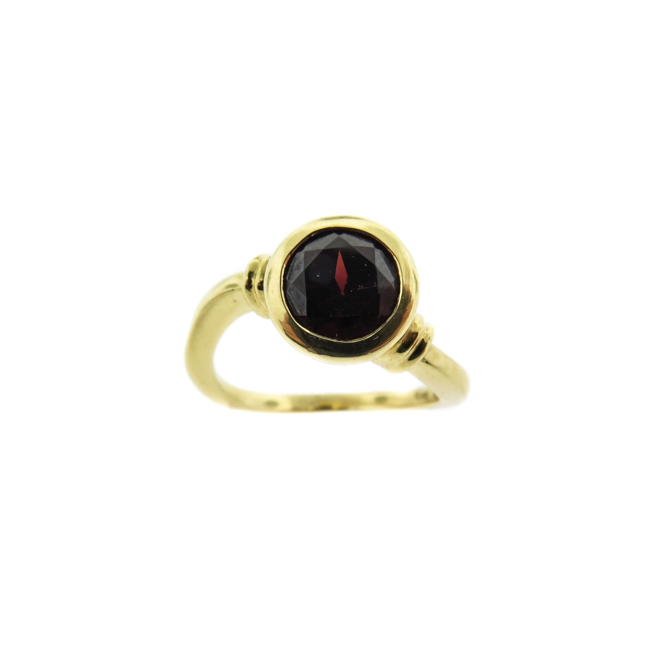 Manfredi Jewelry - 18k Yellow Gold Garnet Ring | Manfredi Jewels