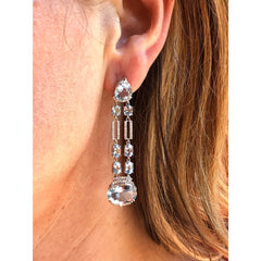 Manfredi Jewels Jewelry - Aquamarine & Diamond Chandelier Earrings | Manfredi Jewels