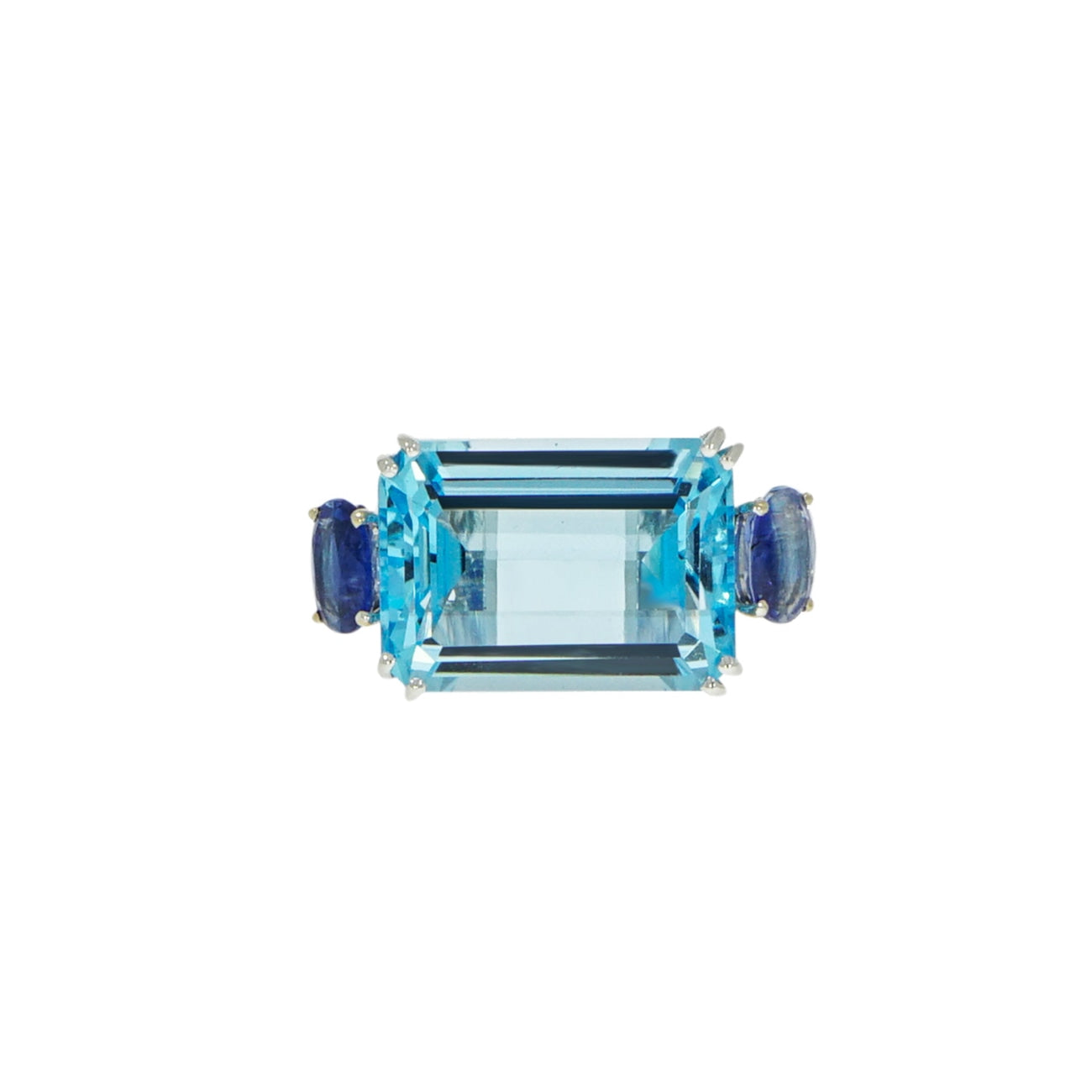 Manfredi Jewels Jewelry - Blue Topaz & Kyanite White Gold Ring | Manfredi Jewels